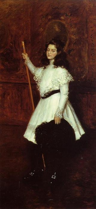 famous painting Girl in White (also known as Portrait of Irene Dimock) of William Merritt Chase