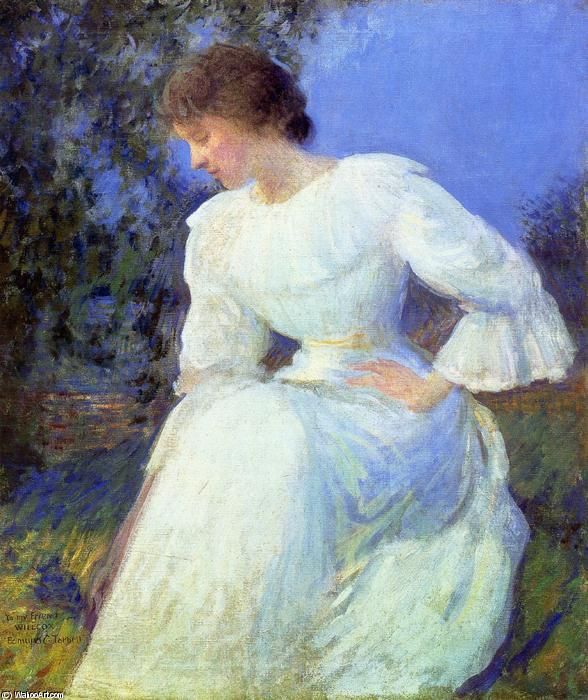 famous painting Girl in White of Edmund Charles Tarbell