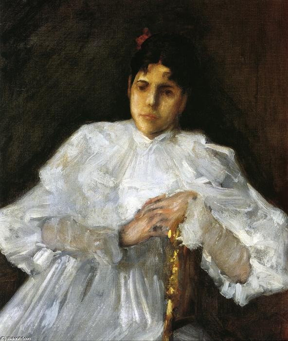 famous painting Girl in White of William Merritt Chase