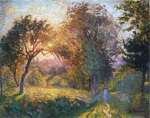 Henri Lebasque - Girls in the Forest at Sunset