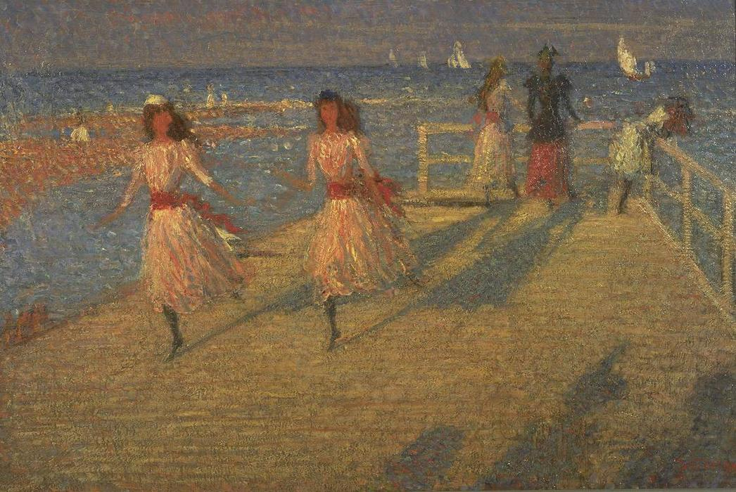 famous painting Girls Running, Walberswick of Philip Wilson Steer