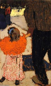 Jean Edouard Vuillard - Girl Wearing an Orange Shawl