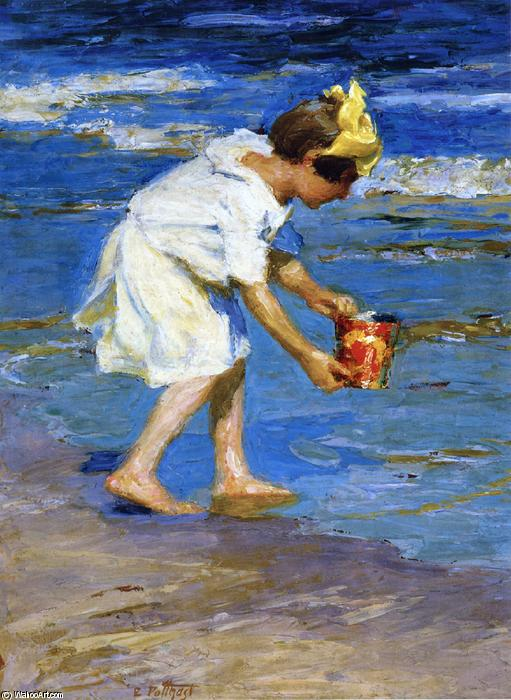 famous painting Girl with a Bucket of Edward Henry Potthast
