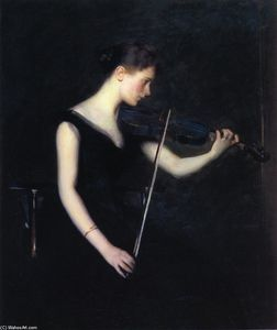 Edmund Charles Tarbell - Girl with Violin (also known as The Violinist)
