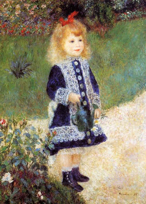 famous painting Girl with a Watering Can of Pierre-Auguste Renoir