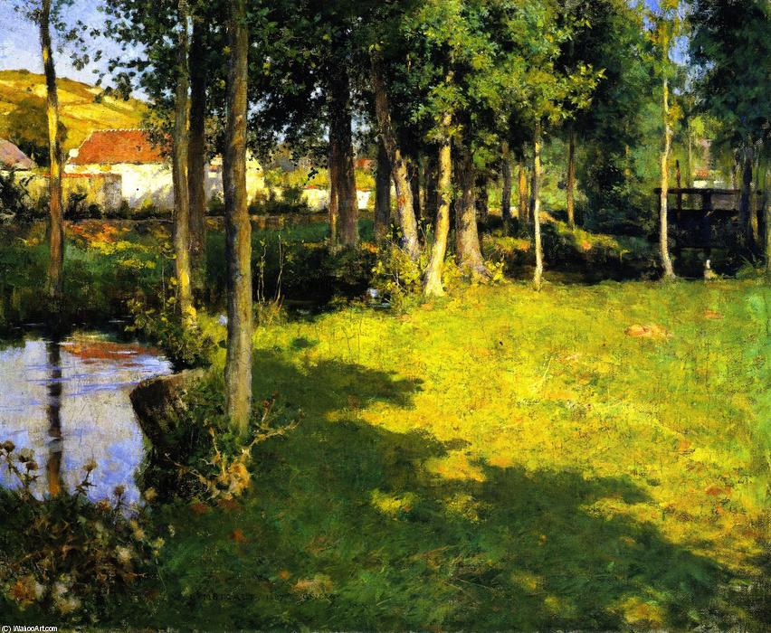 famous painting Giverny of Willard Leroy Metcalf
