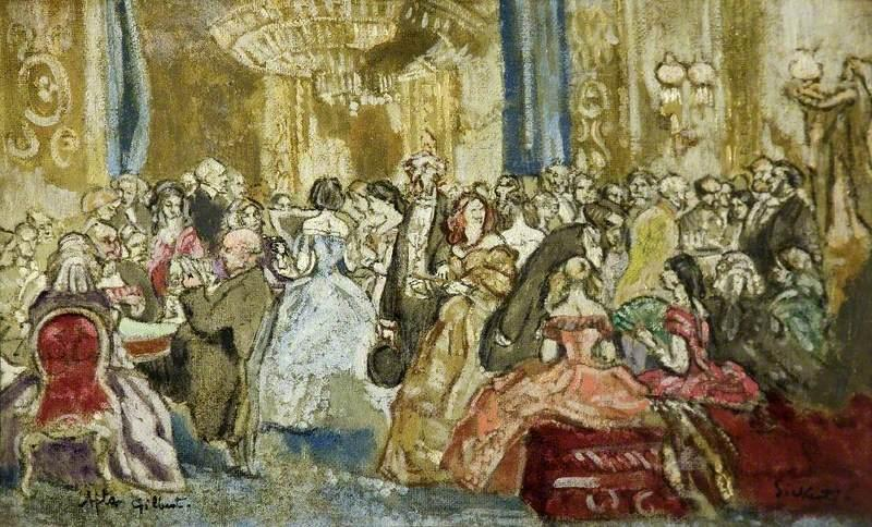famous painting Glencora of Walter Richard Sickert