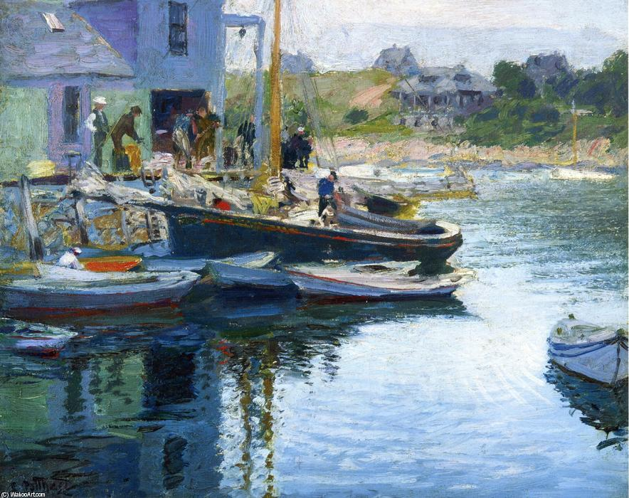 famous painting Gloucester Bay and Dock of Edward Henry Potthast