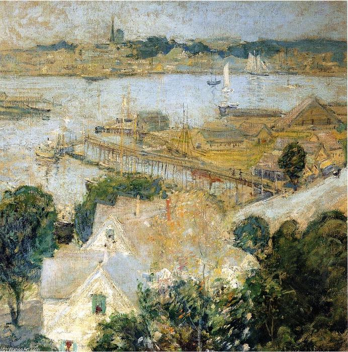 famous painting Gloucester Harbor of John Henry Twachtman