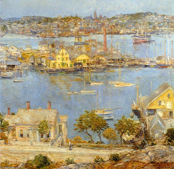 famous painting Gloucester Harbor of Frederick Childe Hassam