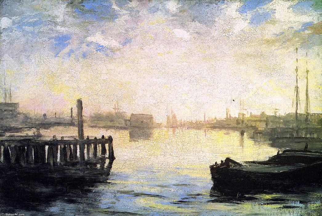 famous painting Gloucester Harbor of William Morris Hunt