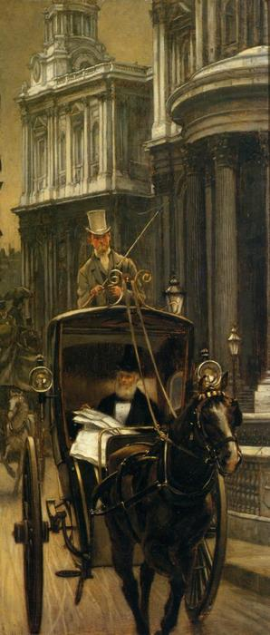 famous painting Going to Business (also known as Going to the City) of James Jacques Joseph Tissot