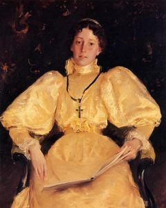 William Merritt Chase - The Golden Lady