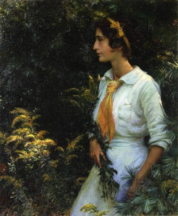famous painting Goldenrod of Charles Courtney Curran