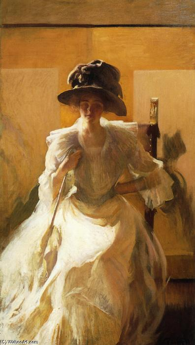 famous painting The Golden Screen of Edmund Charles Tarbell