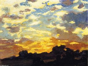 Edward Henry Potthast - Golden Sunset