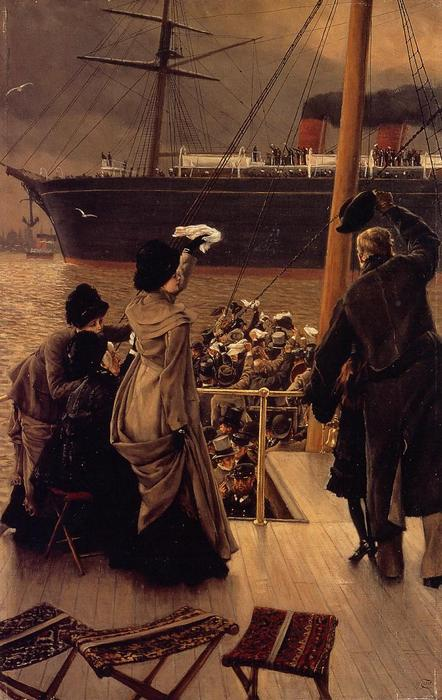 famous painting Goodby, on the Mersey of James Jacques Joseph Tissot