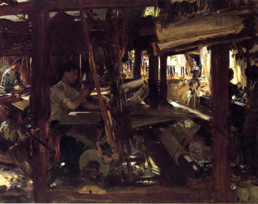 famous painting Granada: The Weavers of John Singer Sargent