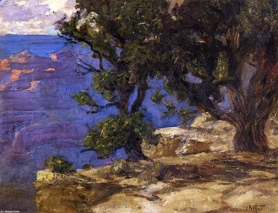 famous painting Grand Canyon Trees and Rocks of Edward Henry Potthast