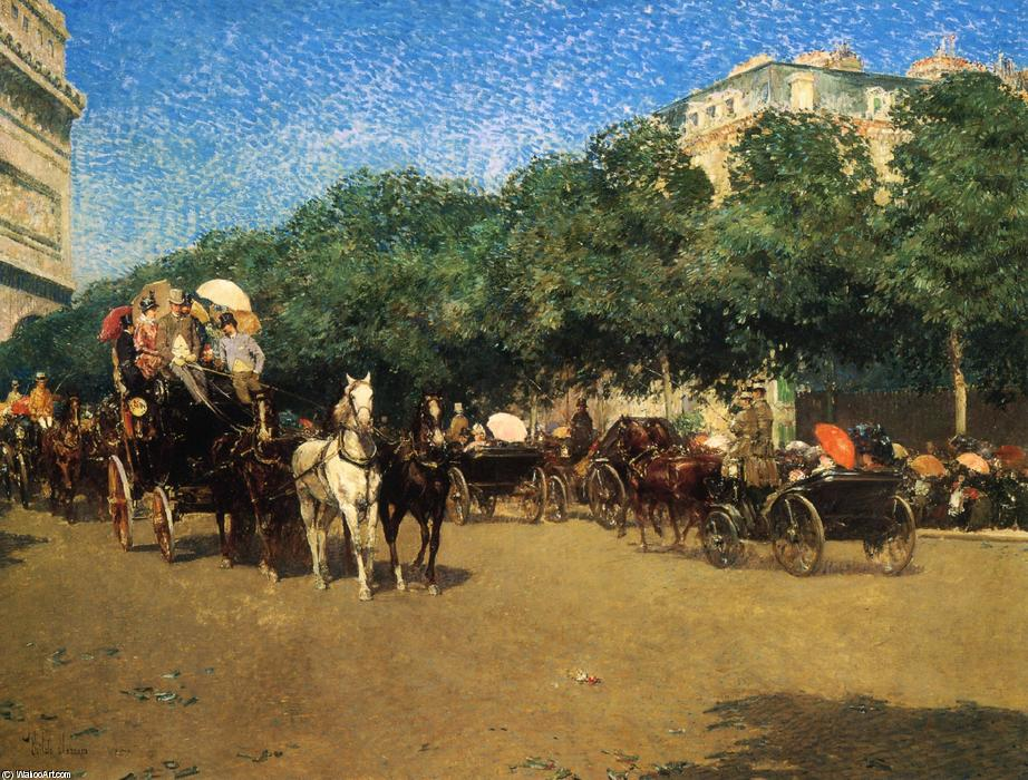 famous painting 'Grand Prix Day (also known as Le Jour de Grand Prix)' of Frederick Childe Hassam