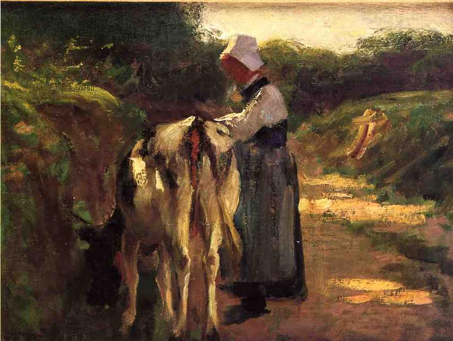 famous painting Grazing by the Roadside of Edward Henry Potthast