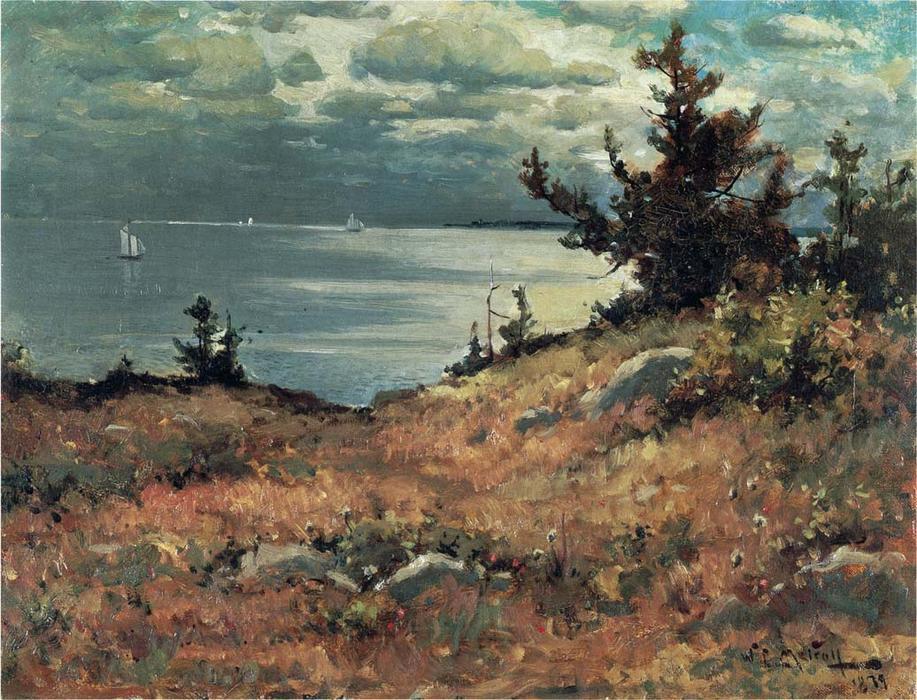 famous painting Great Diamond Island of Willard Leroy Metcalf