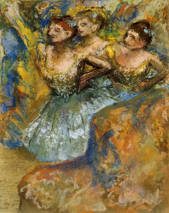 famous painting Group of Dancers of Edgar Degas