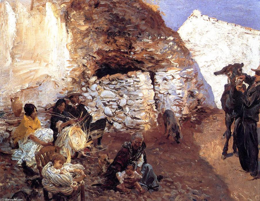 famous painting Gypsy Encampment of John Singer Sargent