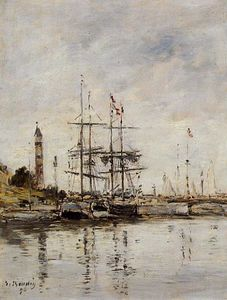 Eugène Louis Boudin - The Harbor at Deauville