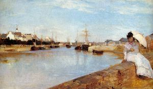 Berthe Morisot - The Harbor at Lorient