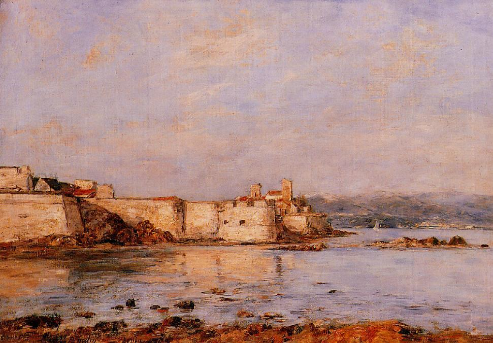 famous painting The Harbor of Antibes of Eugène Louis Boudin
