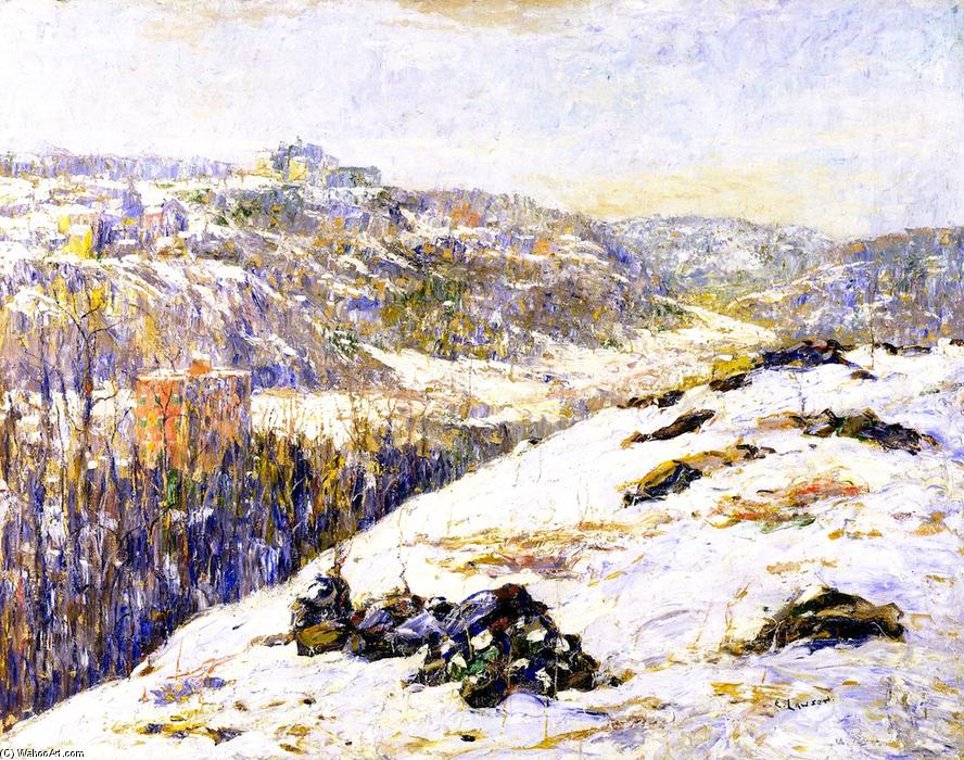 famous painting Harlem River, Winter of Ernest Lawson