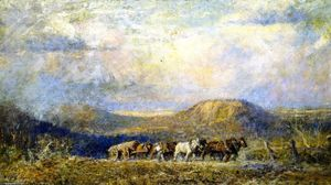 Frederick Mccubbin - Hauling Timber, Macedon Heights
