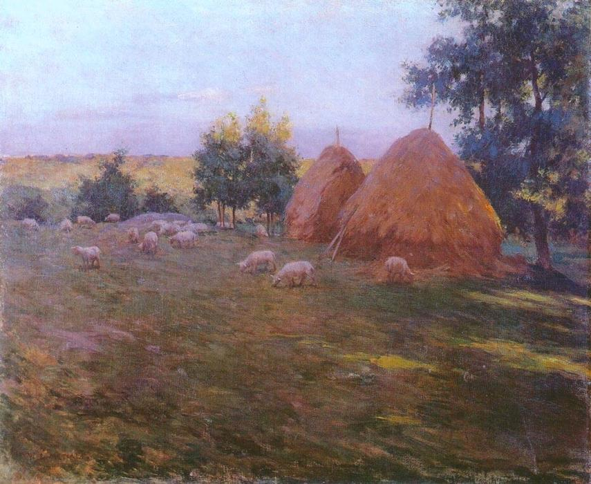 famous painting Haystacks of Willard Leroy Metcalf