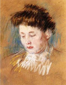 Mary Stevenson Cassatt - Head of Julie, Looking Down