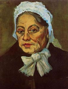 Vincent Van Gogh - Head of an Old Woman in a White Cap (also known as The Midwife)