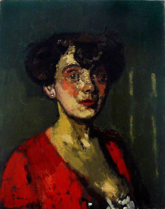 famous painting Head of a Woman (also known as The Belgian Cocotte) of Walter Richard Sickert