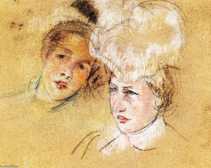 famous painting Heads of Leontine and a Friend of Mary Stevenson Cassatt