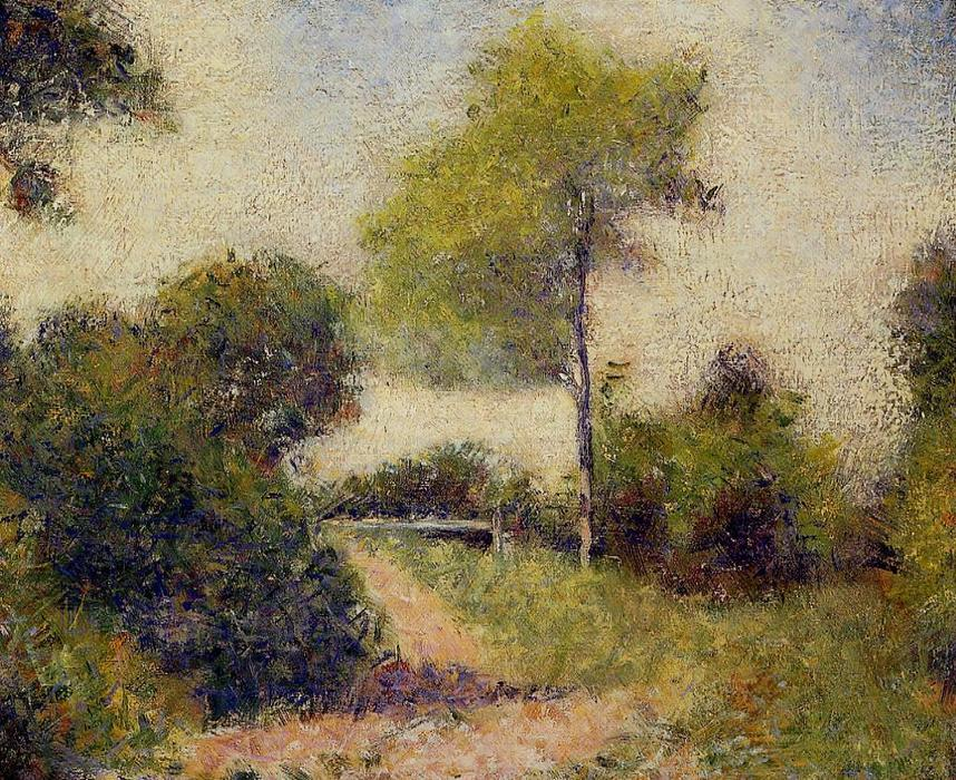 famous painting The Hedge (also known as The Clearing) of Georges Pierre Seurat