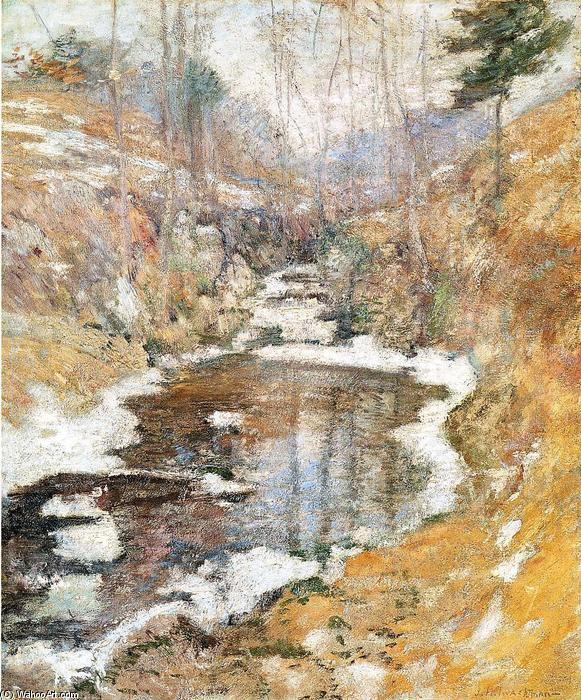 famous painting Hemlock Pool of John Henry Twachtman