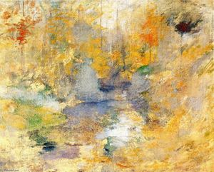 John Henry Twachtman - Hemlock Pool (also known as Autumn)