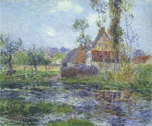 Gustave Loiseau - Hendreville by the Eure River