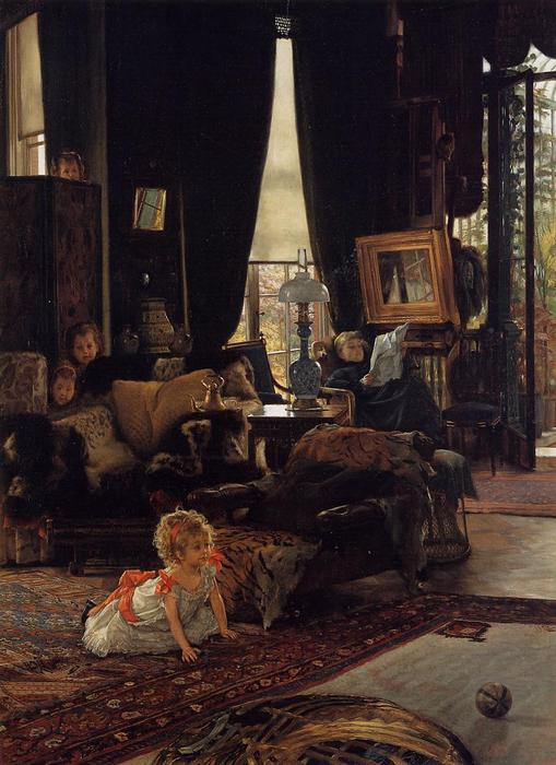 famous painting Hide and Seek of James Jacques Joseph Tissot