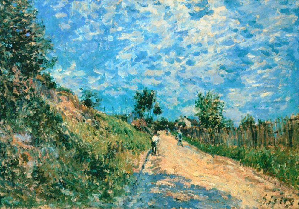 famous painting Hill Path of Alfred Sisley