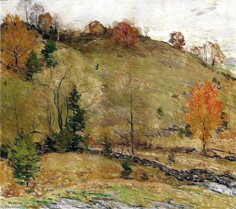 famous painting Hillside Pasture of Willard Leroy Metcalf