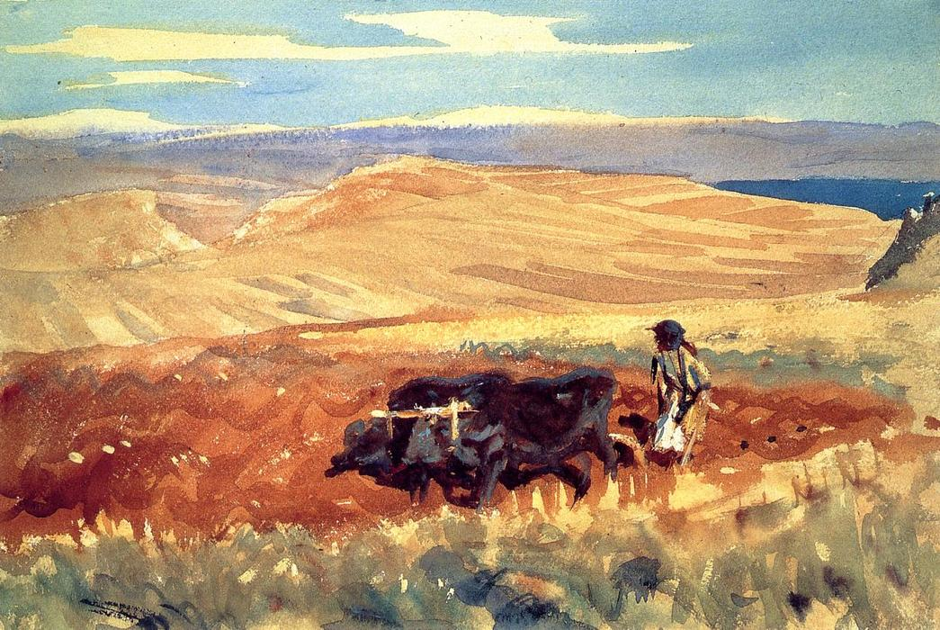 famous painting Hills of Galilee of John Singer Sargent