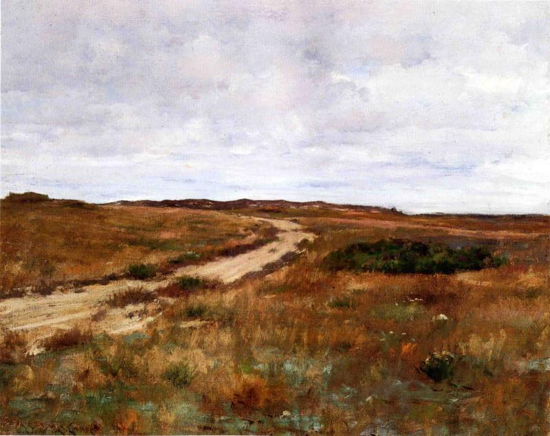 famous painting A Hinterland Landscape with Road (also known as Shinnecock) of William Merritt Chase