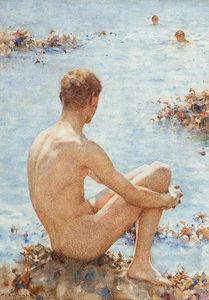 Henry Scott Tuke - A Holiday