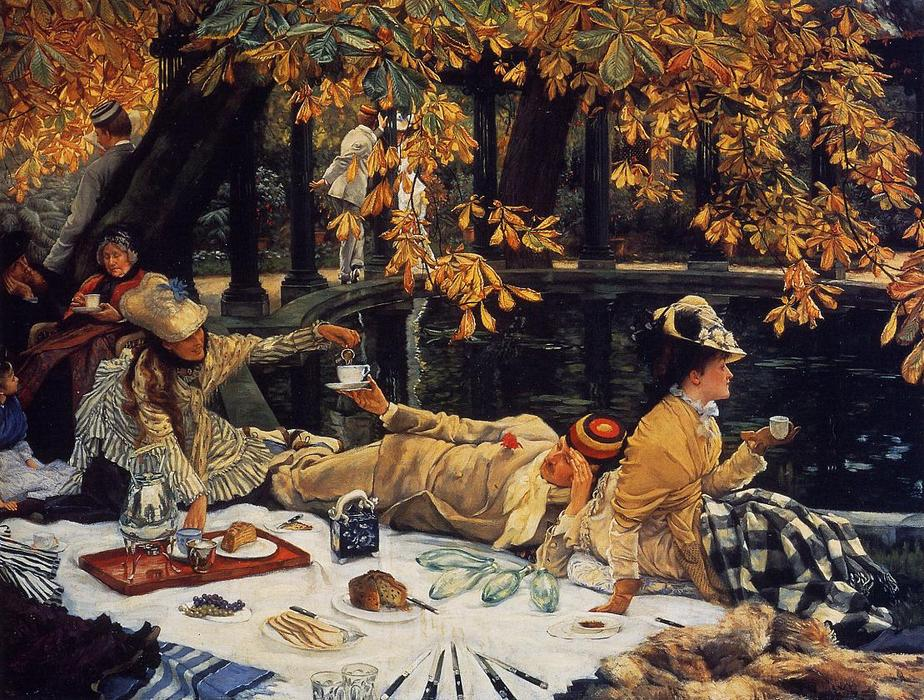 famous painting Holiday (also known as The Picnic) of James Jacques Joseph Tissot