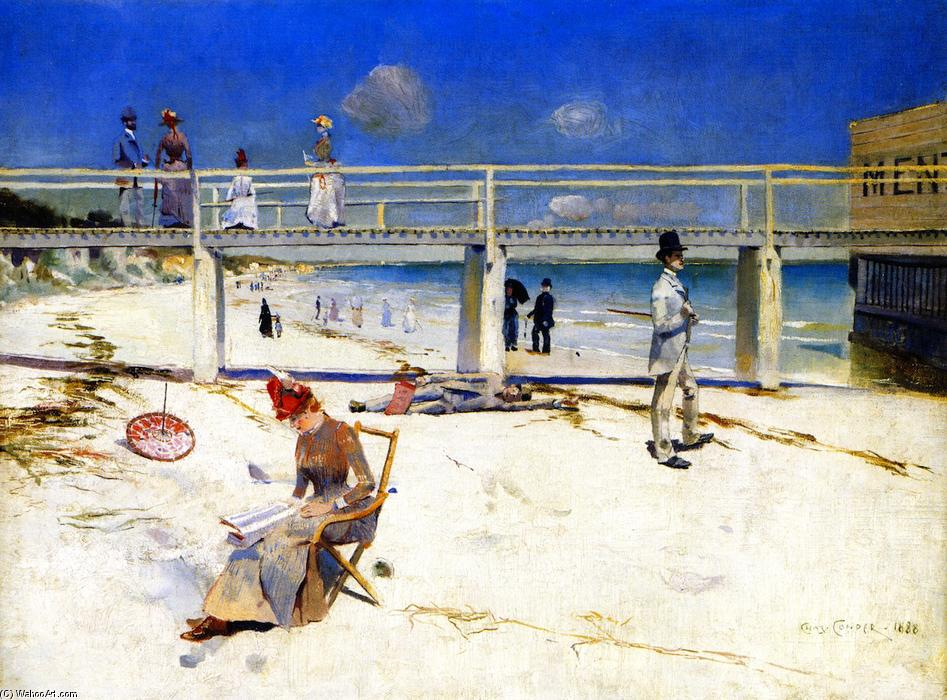 Order Paintings Reproductions Impressionism | A Holiday at Mentone by Charles Edward Conder | TopImpressionists.com